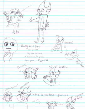 Mordecai and Rigby Sketch Dump