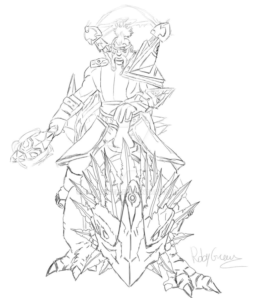 disruptor dota 2 sketch by robygreen on deviantart