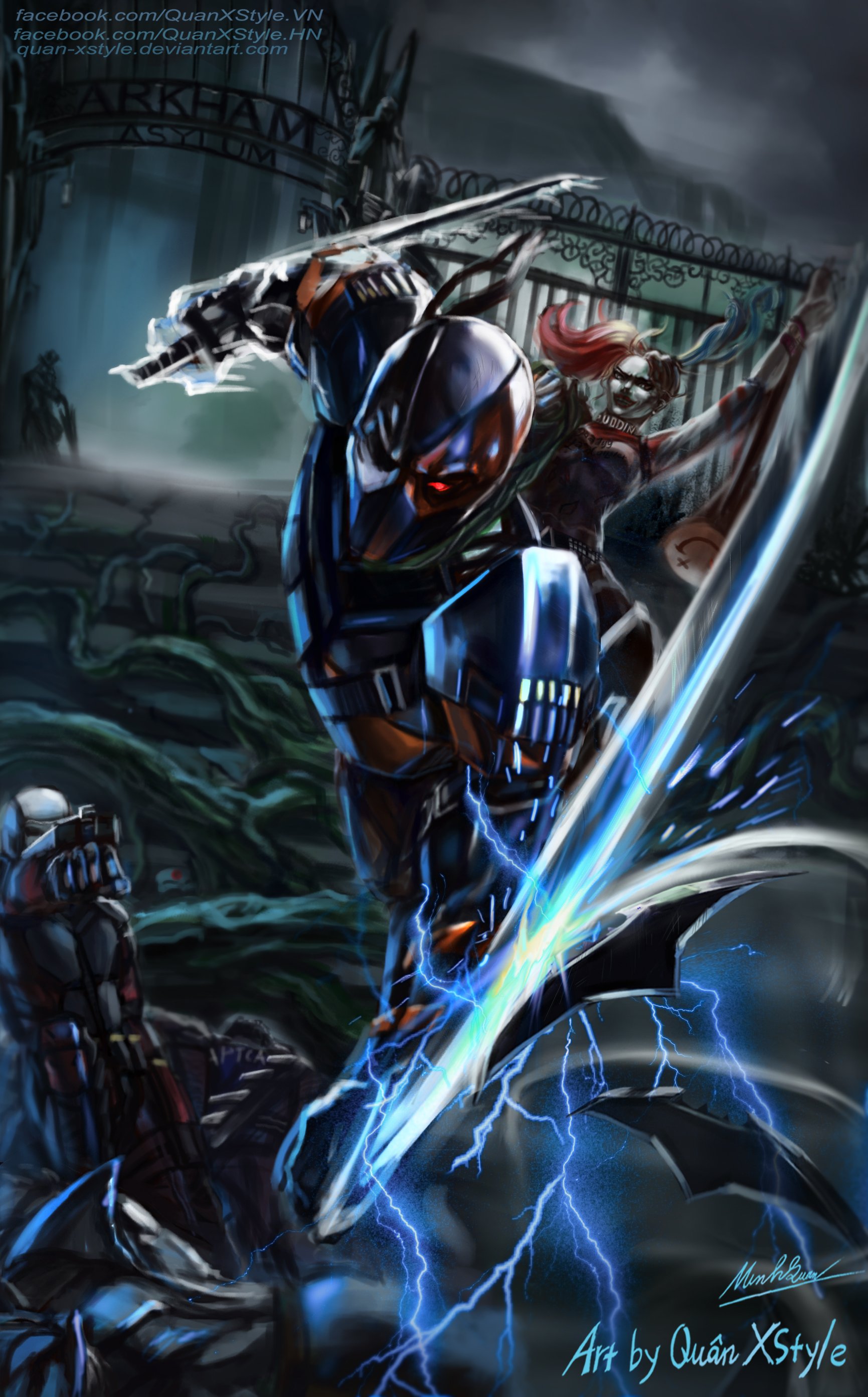 Deathstroke Vs Suicide Squad And Batman By Quan Xstyle