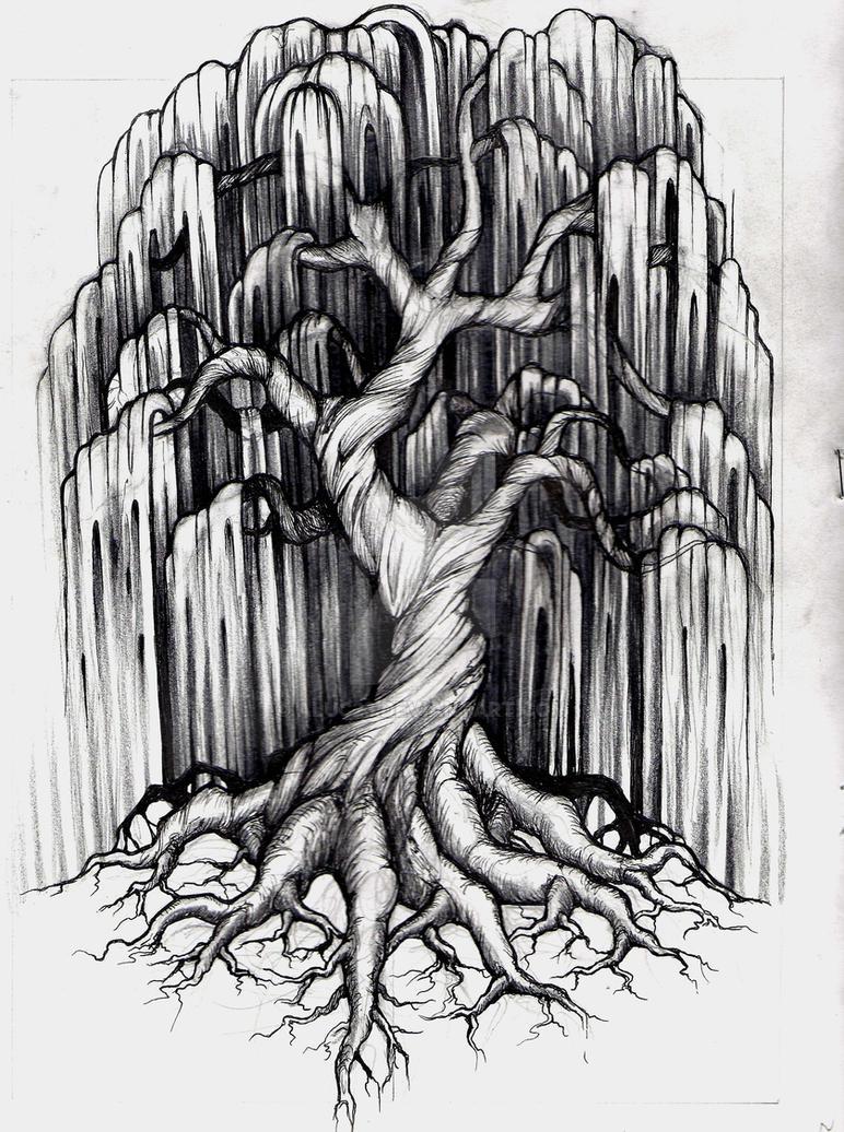 Willow Tree Tattoo by aluc23 on DeviantArt  Willow Tree Tat...