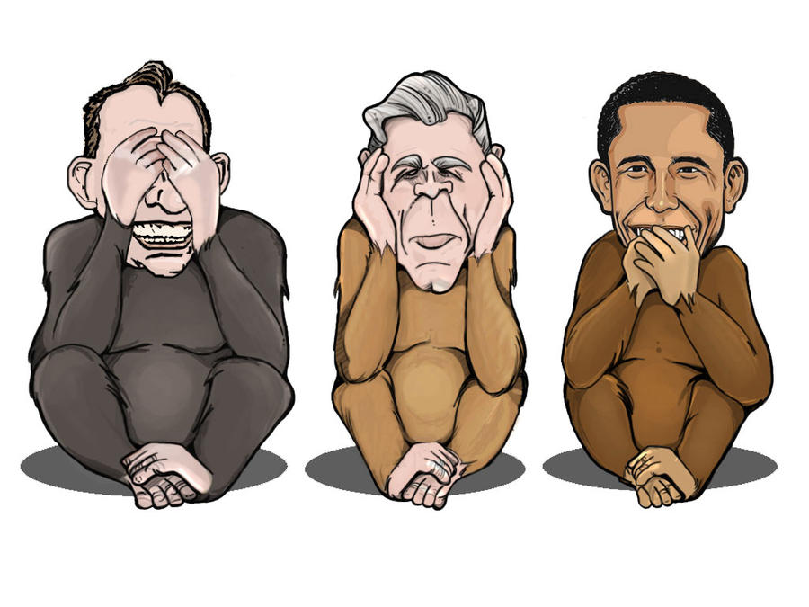 Three Wise Monkeys Drawings Three Wise Monkeys by Lukeh92