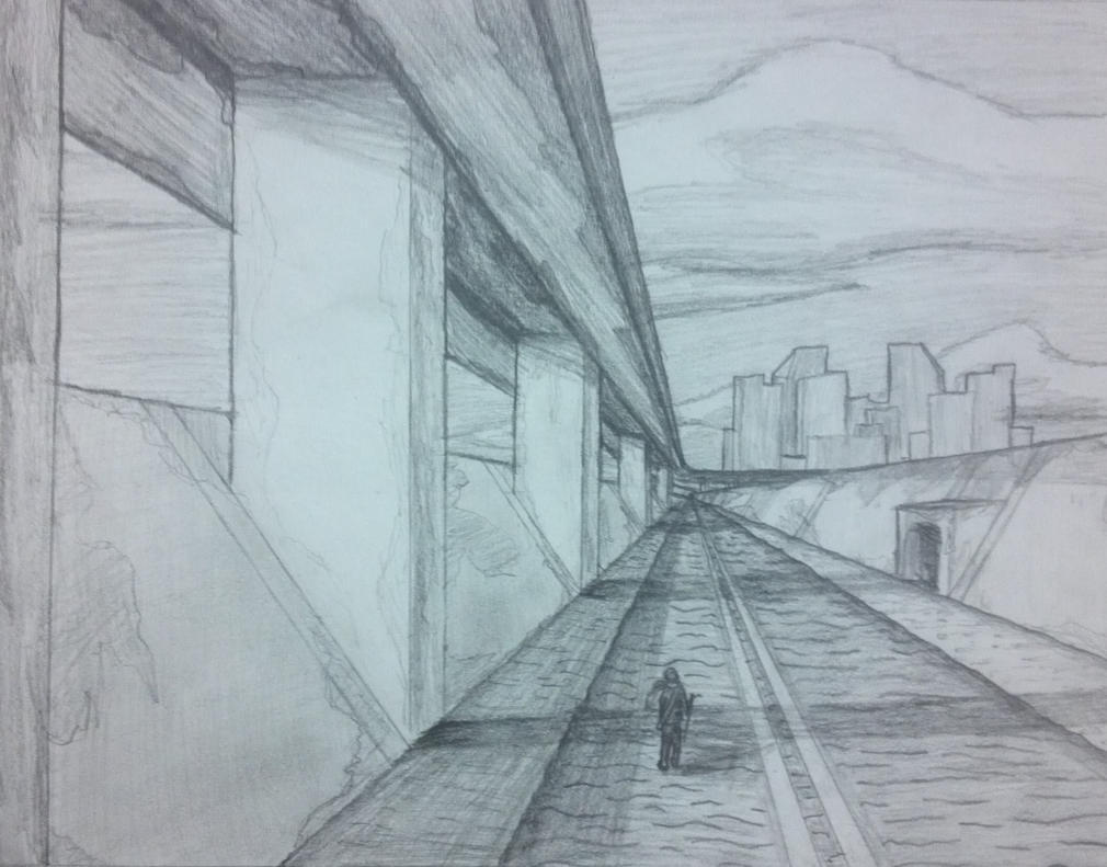 perspective-road-drawing