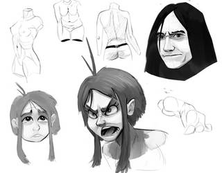 Sketchies faces and wamen body by Nayolfa