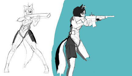Husky Girl Action by Nayolfa