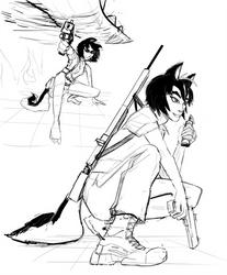 wolf action pose by Nayolfa