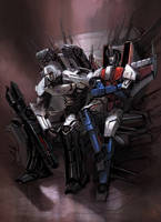 KTE: Tyrant and Traitor (Megatron vs Starscream) by Naihaan