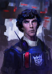 Human Soundwave (if Dr. Strange was in TF-world) by Naihaan
