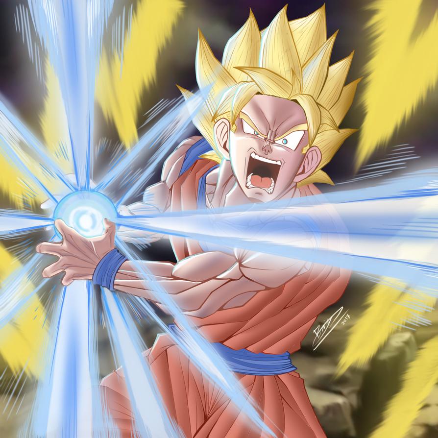 Goku finished omg by PizzaPie-Desu