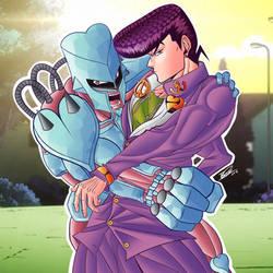 Josuke is awesome fight me by PizzaPie-Desu