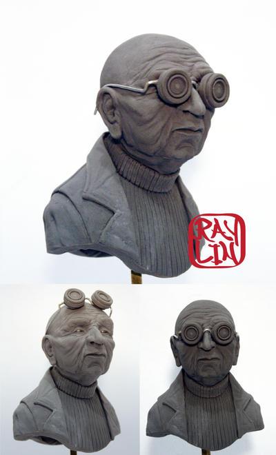Professor Farnsworth Sculpture by artanis-one