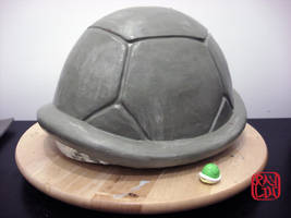 Koopa Shell Helmet Sculpture by artanis-one