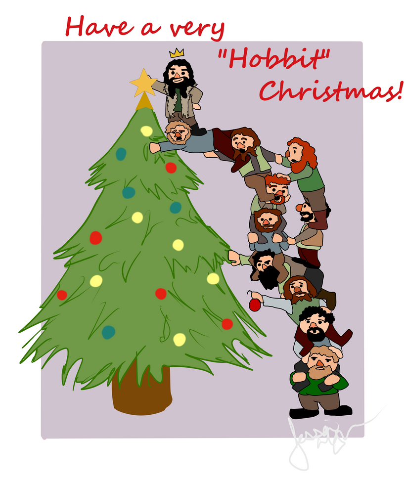 have a happy hobbit christmas! by ifroggirl on DeviantArt