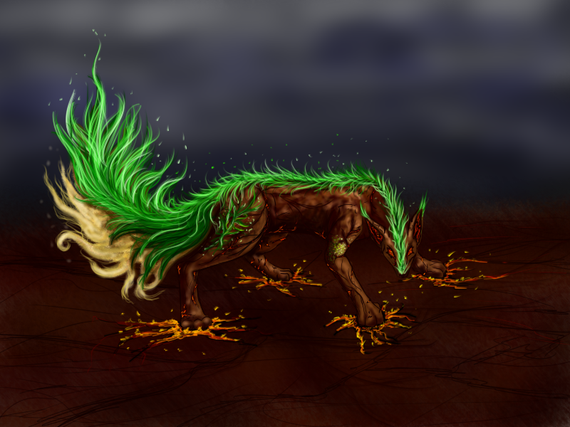 Earth Element Fox by kristhasirah on DeviantArt