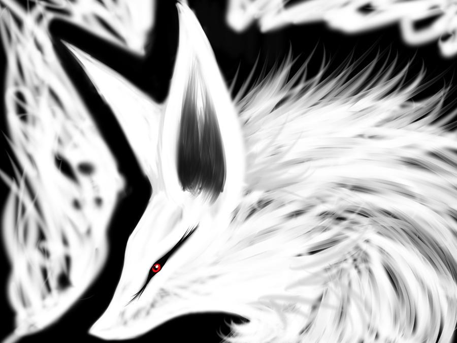 white demon fox by kristhasirah on deviantart