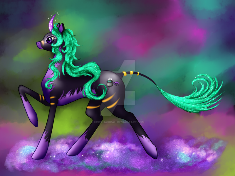 My OC Kristhasirah in Pony Mode by kristhasirah