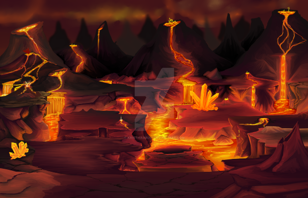 Fire Lava Realm by kristhasirah