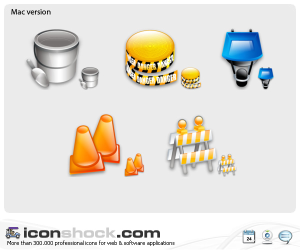 Construction web icons by Iconshock
