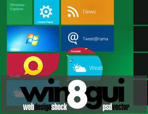 Full Windows 8 GUI Theme set