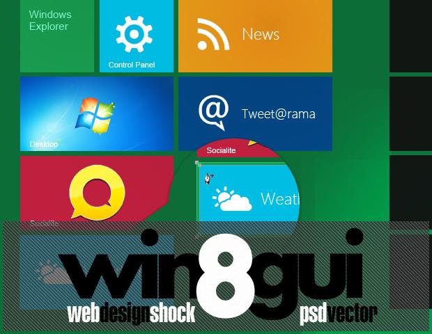 Full Windows 8 GUI Theme set by Iconshock