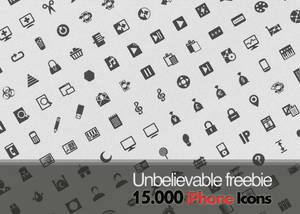 Unbelievable Freebie: 15.000 free iPhone icons