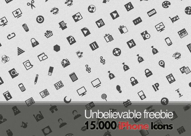 Unbelievable Freebie: 15.000 free iPhone icons