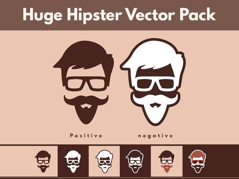 Huge Free Hipster Vector Pack