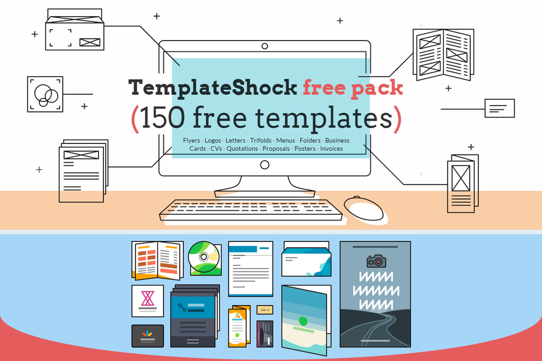 Free Huge Print Templates Pack - TemplateShock.com by Iconshock