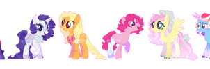 My mane six - (Redesign) by Anisa-MLP222