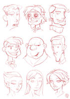 Head Sketches by Lord-Dragon-Phoenix
