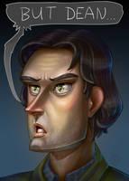Sam Winchester - Fan art by Lord-Dragon-Phoenix
