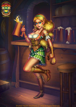 Busty Barmaid