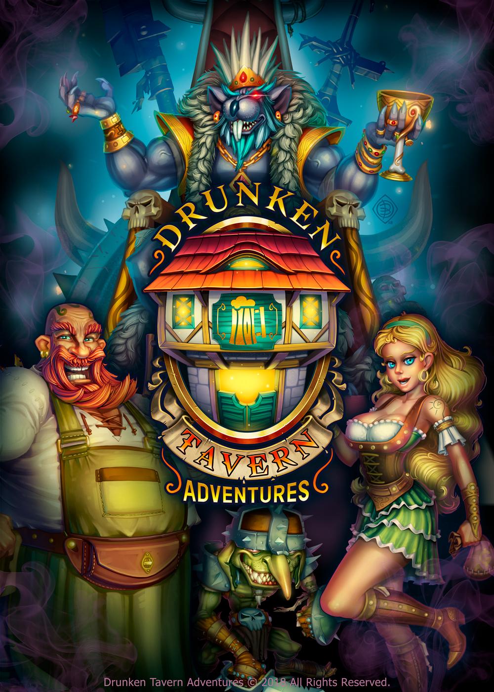 Poster - Drunken Tavern Adventures by Lord-Dragon-Phoenix