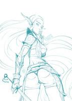 Elf Warrior by Lord-Dragon-Phoenix
