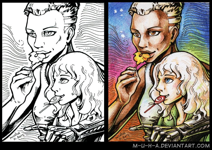 ACEO GD Joe and Nikol by m-u-h-a