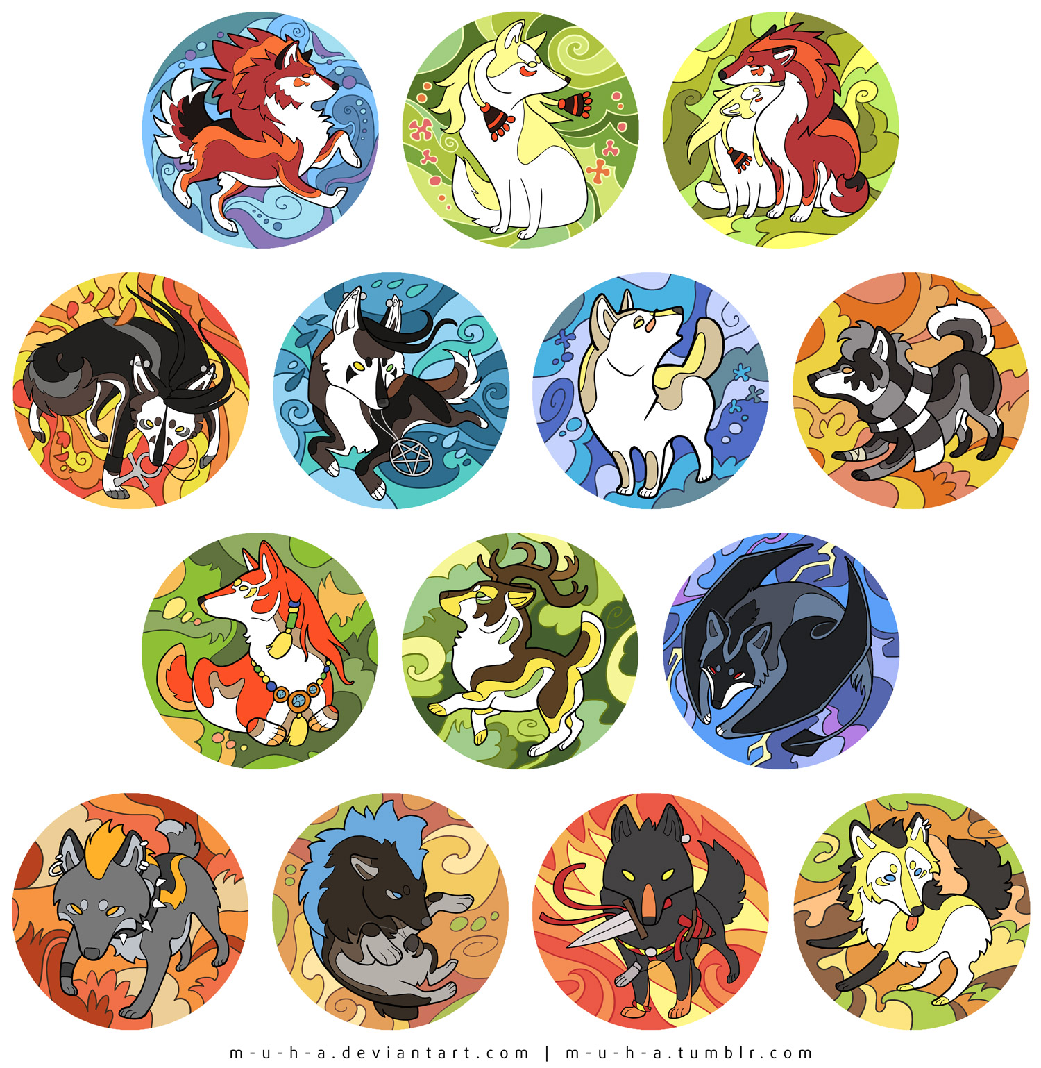 Wolf Saga magnetes by m-u-h-a