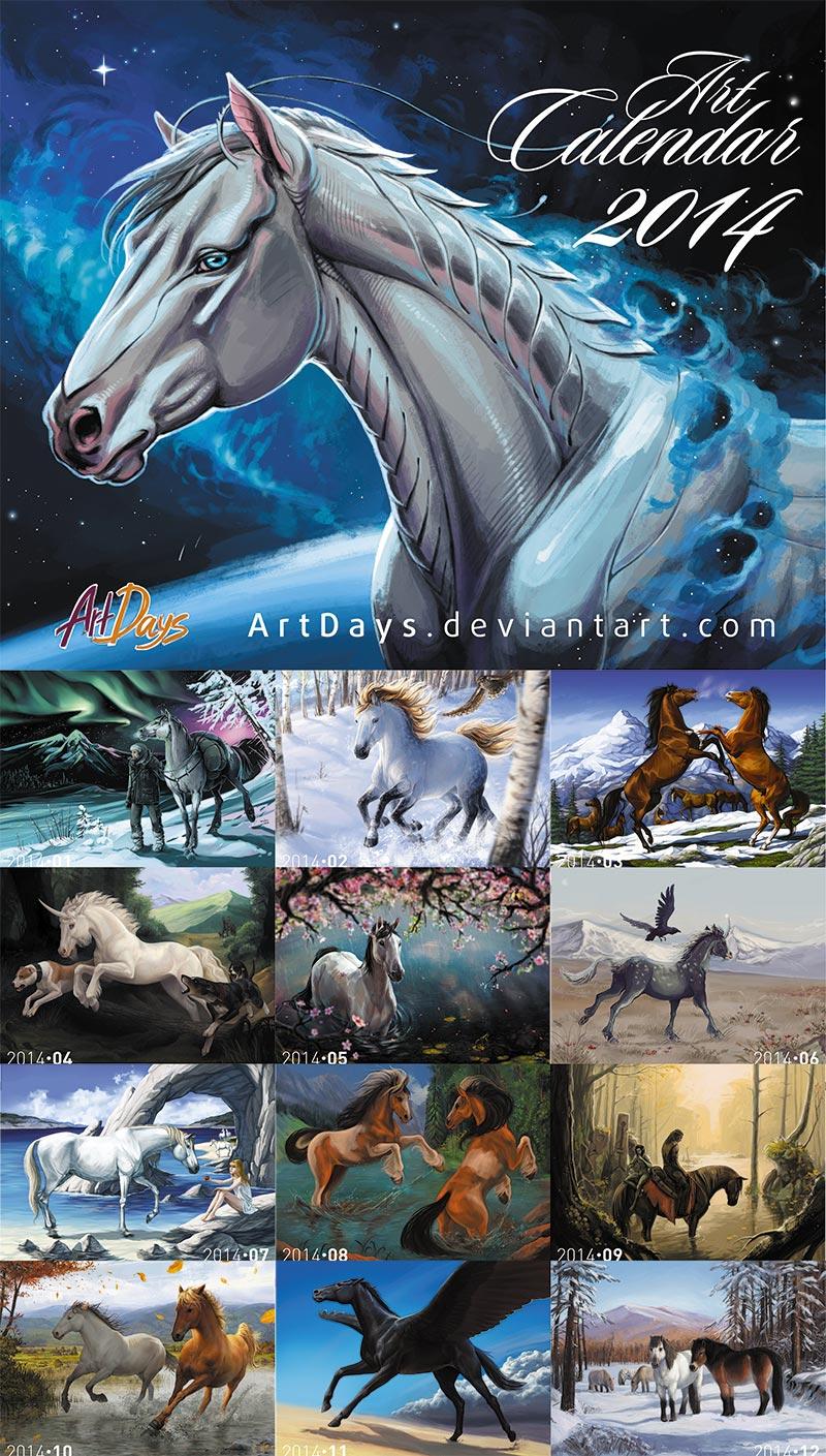 Horse Calendar 2014 by m-u-h-a