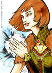 ACEO Lena Amell by m-u-h-a