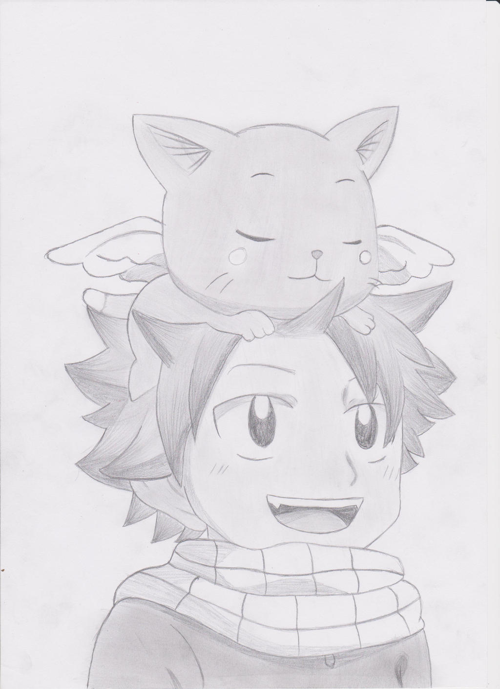 Natsu and happy fairy tail by mystchiief on deviantart - Fairy tail happy and natsu ...