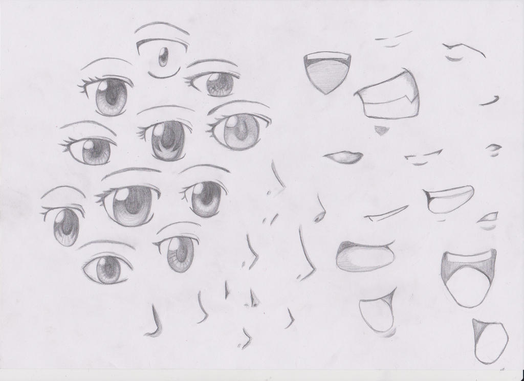 Eyes Noses And Mouths Anime Style By Mystchiief On DeviantArt