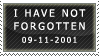 I Have Not Forgotten Stamp (9/11/01) by Petuniabubbles