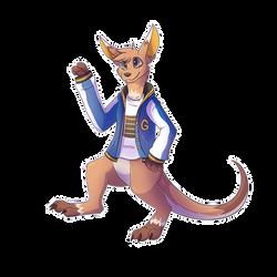 Patron Request - Fuzzbyroo Kangaroo by Petuniabubbles