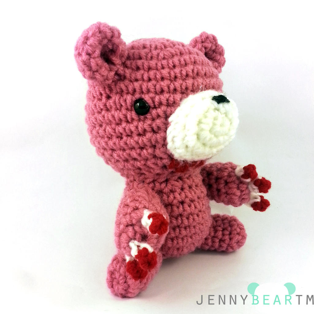 Amigurumi Pink Bear : Pink Gloomy Bear Amigurumi Plush by jennybeartm on DeviantArt