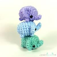 a tower of super mini elephants by jennybeartm
