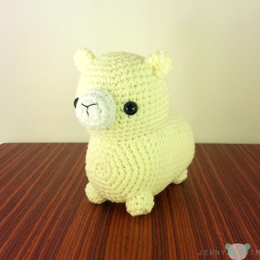 Amigurumi Alpacasso : Midi Alpaca Amigurumi Plush by jennybeartm on DeviantArt