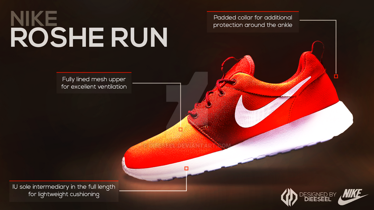 Nike Roshe Run ~ Advertising Poster by Dieeseel on DeviantArt