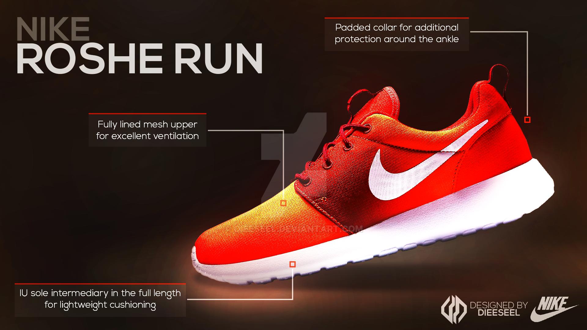 Nike Roshe Run ~ Advertising Poster by Dieeseel on DeviantArt