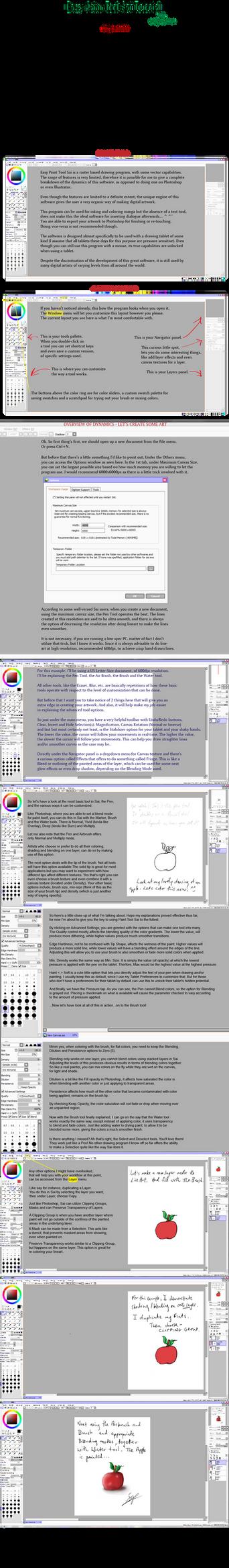 Easy Paint Sai Tutorial - Part 1 :Draft: by Sop-sama