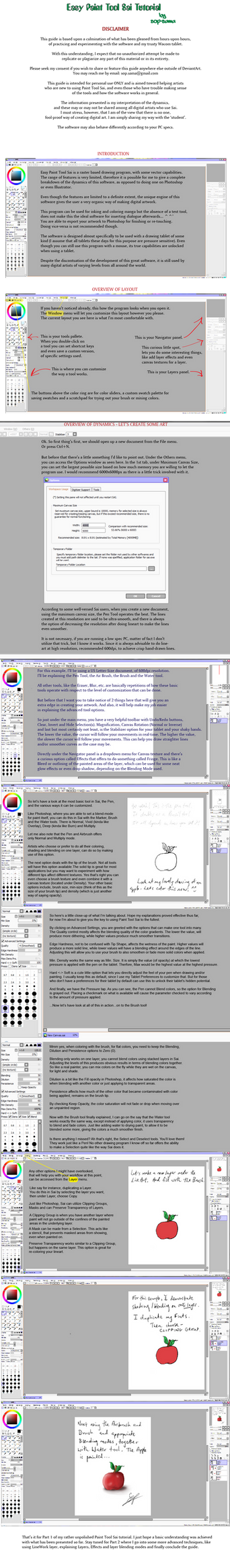 Easy Paint Sai Tutorial - Part 1 :Draft: