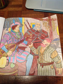 The Witcher Adult Coloring Book: Page 1