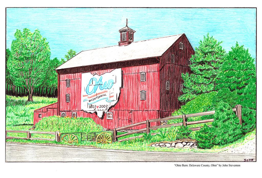 Ohio Barn by Steventon